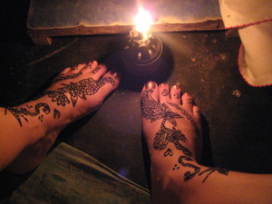 Alicia's Mendhi Feet